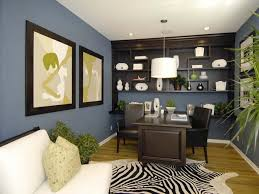 blue has a calming effect it can slightly lower blood pressure heart rate and respiration for balance and style combine blue with orange calming office colors