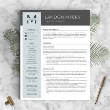 professional resume template the landon landed design solutions professional resume template the landon perfect resume templates 1
