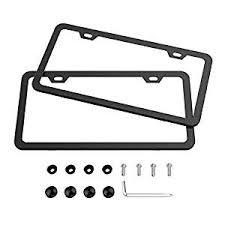 Karoad Black <b>License</b> Frames, 2 <b>PCS</b> Stainless Steel <b>Car Licence</b> ...