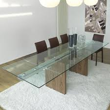 glass extension dining table miami dining table float clear glass