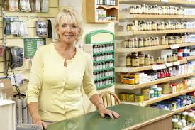 female s assistant in health food store stock photo picture female s assistant in health food store stock photo 5633495
