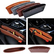 Luxury Vehicle Front <b>Seat Gap Filler</b> Leather <b>Car</b> Organizers ...