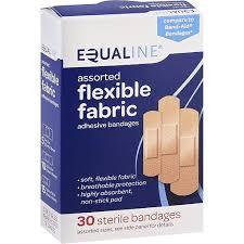 Equaline <b>Adhesive Bandages</b>, <b>Flexible Fabric</b>, Assorted | Bandages ...