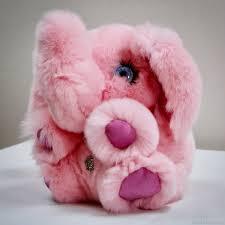 Розовый слон мягкая <b>игрушка из натурального меха</b> – купить на ...