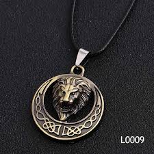 Gold Silver Lion Fashion Cool Skull <b>Men's Pendant Stainless</b> Steel ...