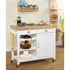 classics kitchen work table cart bamboo