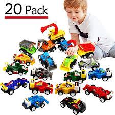 Funcorn <b>Toys</b> Pull Back <b>Car</b>, <b>20 Pcs</b> Assorted Mini Truck <b>Toy</b> And ...