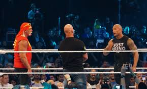 Stone Cold Steve Austin Wikipedia the free encyclopedia Austin with Hulk Hogan and The Rock at WrestleMania XXX.