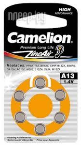 <b>Аксессуар</b> Батарейки Camelion ZA13 BL-6 / A13-BP6 1.4V 280mAh