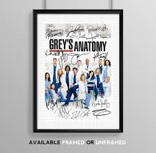 greys anatomy cast signed autograph signature autographed a4 poster photo print photograph artwork wall art picture anatomy eat kitchen