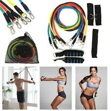 <b>11Pcs Set Resistance Bands Yoga</b> Pilates Gym Exercise Fitness ...