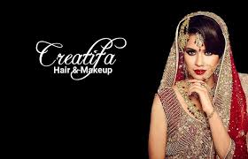 creatifa hair makeup artist trained by lubna rafiq for asian bridal special occasions