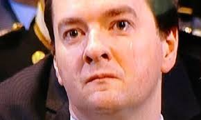 An emotional George Osborne appeared to shed a tear during Lady Thatcher's funeral as the Rt Revd Richard Chartres, the bishop of London, delivered the ...