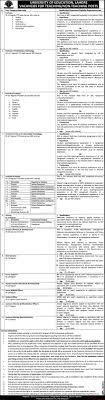 university of education lahore jobs paperpk university of education lahore jobs