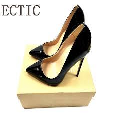 <b>Brand Sexy</b> Rivets Shiny Patent Leather High Heels <b>Nude Pointed</b> ...