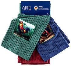 Купить <b>набор кухонных полотенец Gipfel</b> 2705 Красный, синий ...