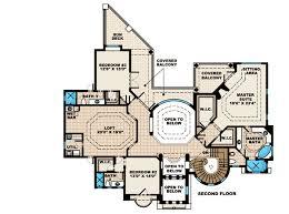 Stunning Tuscan House Plan   WE   nd Floor Master Suite    Reverse Floor Plan Pinit white