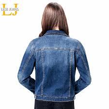 2019 LEIJIJEANS <b>Women Plus Size 6XL</b> long basical jeans jacket ...