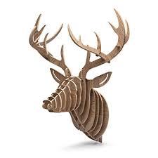 GBtroo Hanging Deer Head Wall Mount for <b>Home Wall Decor</b>
