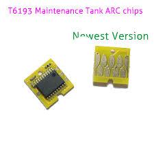 Auto Reset Maintenance <b>Chips T6193</b> For <b>Epson</b> Surecolor T3000 ...