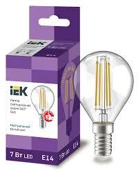 <b>Лампа светодиодная</b> G45 шар прозрачная <b>7Вт 230В</b> 4000К <b>E14</b> ...