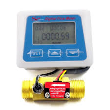 <b>Digital LCD display Water</b> flow sensor meter flowmeter totameter ...
