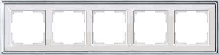 <b>Рамка</b> на 5 постов <b>Werkel Palacio</b> WL17-Frame-05 хром / белый