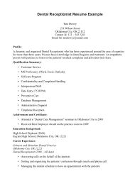 dental receptionist resume samples resume format  medical receptionist