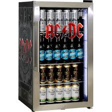 Cool Drink Fridge Acdc Rock Band Triple Glazed Alfresco Bar Fridge With Great Design