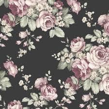 Norwall Flourish 55-sq ft Black, Ebony, Plum, Pink, <b>French Rose</b> ...