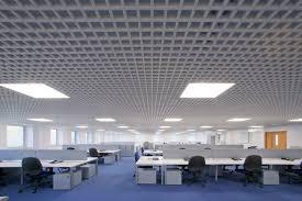 fantastic decorating design for office space pleasing white grid ceiling white aluminium composite blue white office space