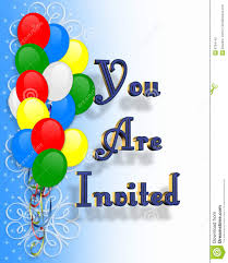 birthday party invitation gangcraft net birthday party invitation balloons stock photography image birthday invitations