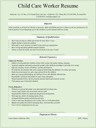 child care resume samples resume format  childcare