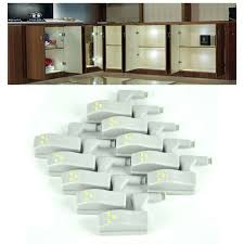 10pcs Universal <b>Cabinet Cupboard Hinge LED Light</b> System ...