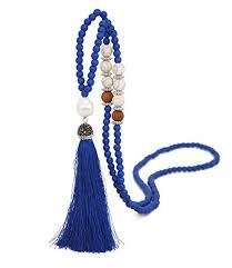 Moonsky Long <b>Tassel</b> Necklace Handmade Turquoise <b>Pearl</b> Crystal ...