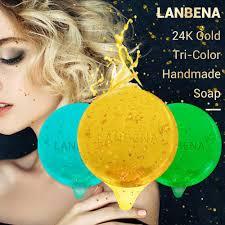 <b>LANBENA 24K Gold Handmade</b> Soap Hyaluronic Acid+Seaweed+ ...