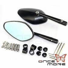 <b>8mm 10mm CNC Aluminum</b> Black Motorcycle Rearview Mirror End ...