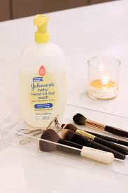 first run your brush bristles under lukewarm water make sure to keep the bristles pointing downwards avoiding the area where the handle meets