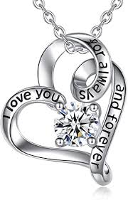 <b>EUDORA</b> I Love You for Always and Forever CZ <b>925</b> Sterling Silver ...