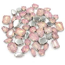 Online Shop <b>New arrival 50pcs</b> Pink opal Resin flatback sew on ...