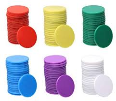Shapenty 25mm/<b>1</b> Inch Small Plastic Learning Counters Disks Bingo ...