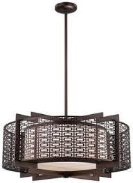 four light pendant from the atelier collection shown in cimarron bronze by metropolitan lighting n6972 asian pendant lighting
