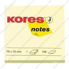 <b>Блок</b>-<b>кубик Kores</b> бум.для зам. 75х75 желтая 100л. '46075 ...
