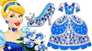How To Make <b>Princess Cinderella</b> Play Doh Sparkle <b>Dress</b> & Shoes ...