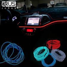 <b>JURUS</b> 3/<b>5 Meters</b> Flexible <b>Car</b> Neon Cold light EL Wire 12V ...