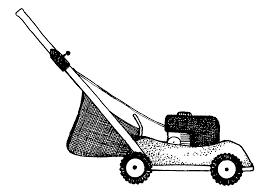 lawn cutting clipart clipart kid lawn mower clip art black white