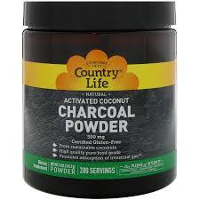 Country Life <b>Natural Activated Coconut Charcoal</b> Powder, 500 mg, 5 ...