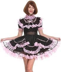 GOceBaby Sissy Girls' Maid Black Organza Lockable <b>See Through</b> ...