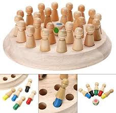 Puzzles en bois <b>Wood Color</b> PerGrate Kids <b>Wooden Memory Match</b> ...