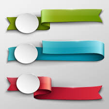 Vector banner colored ribbon design 02 - Vector Banner, Vector ...
